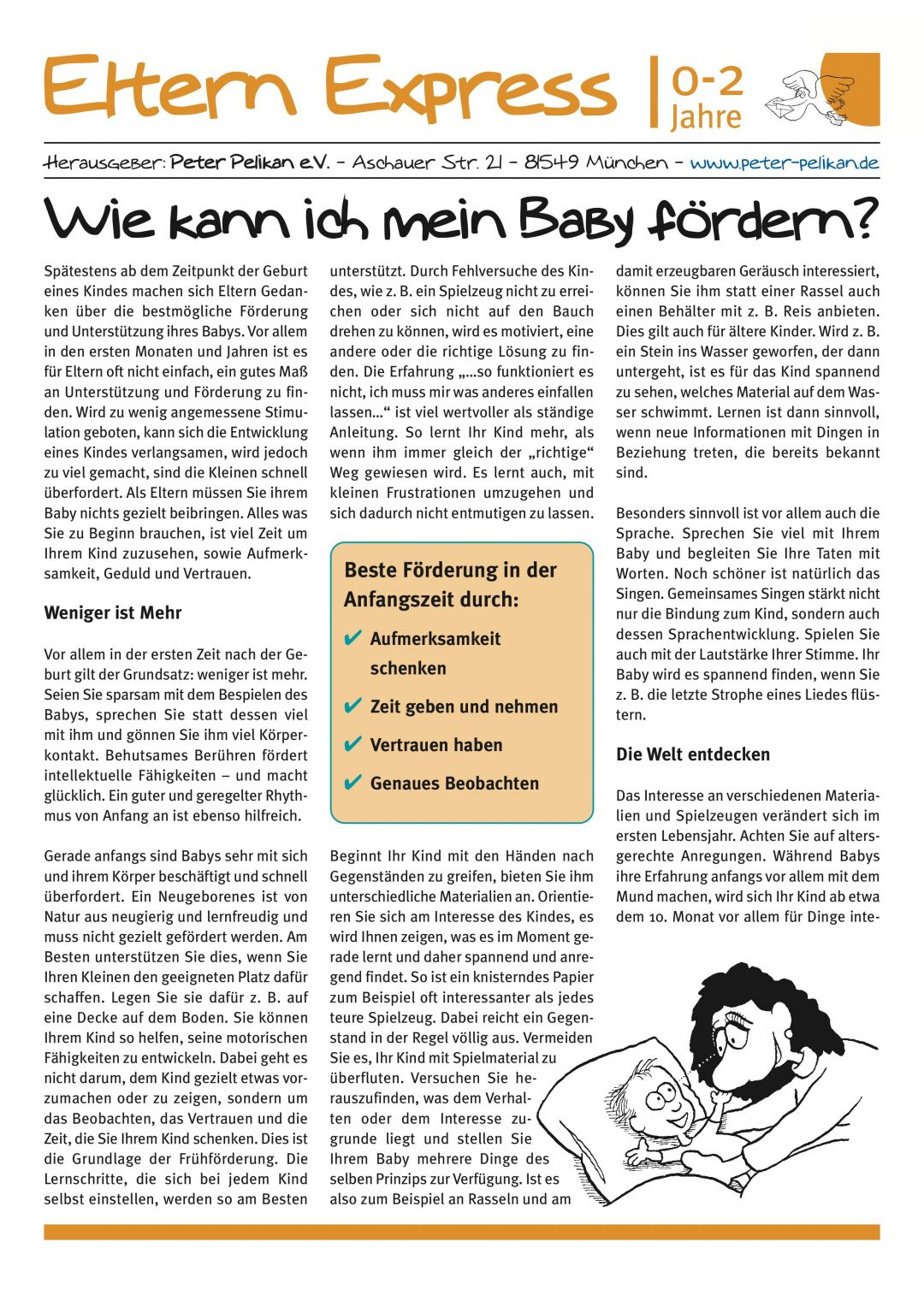 """Express-Brief No. 1 """"Wie kann ich mein Baby fördern?"""""""