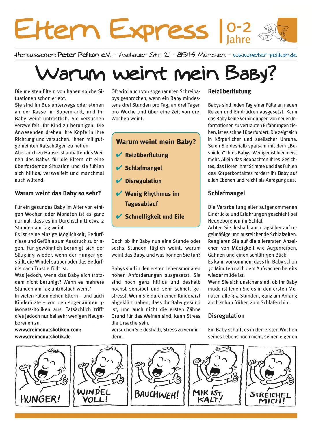 """Express-Brief No. 2 """"Warum weint mein Baby?"""""""