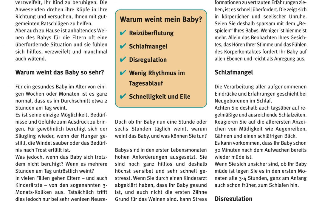 "Express-Brief No. 2 ""Warum weint mein Baby?"""