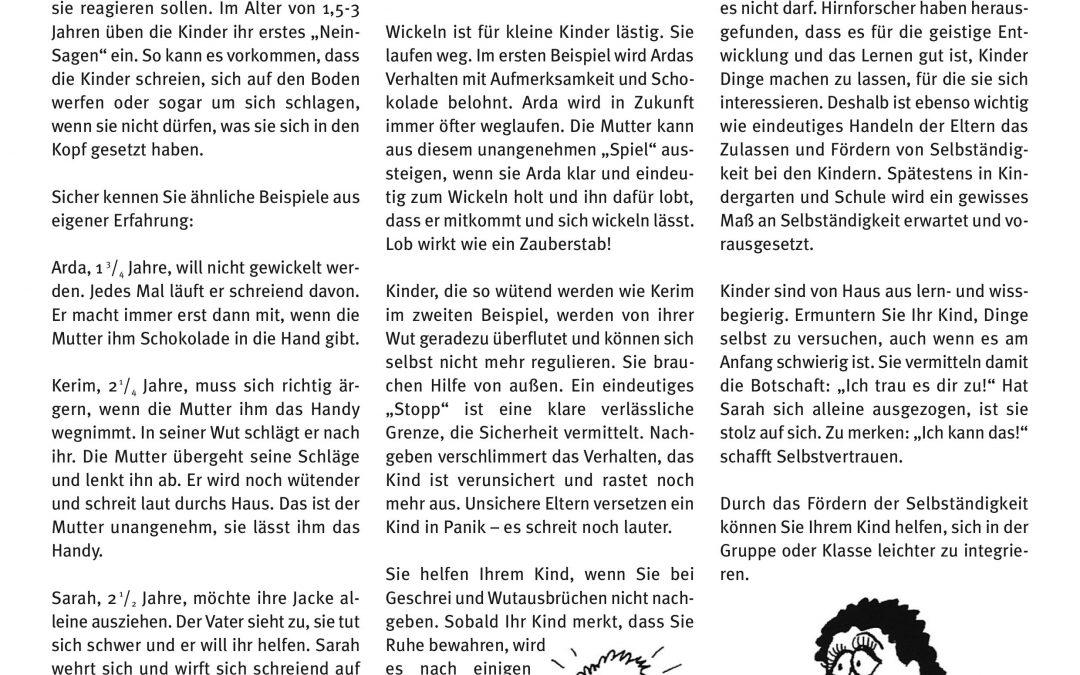 """Express-Brief No. 3 """"Mit kleinen Kindern leben?"""""""