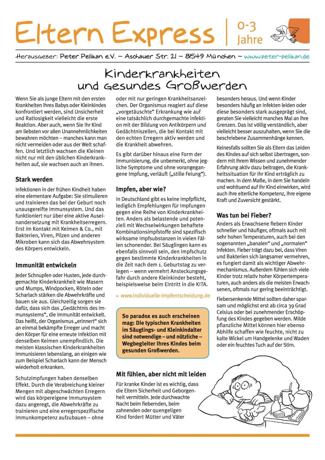 """Express-Brief No. 6 """"Kinderkrankheiten und gesundes Großwerden?"""""""