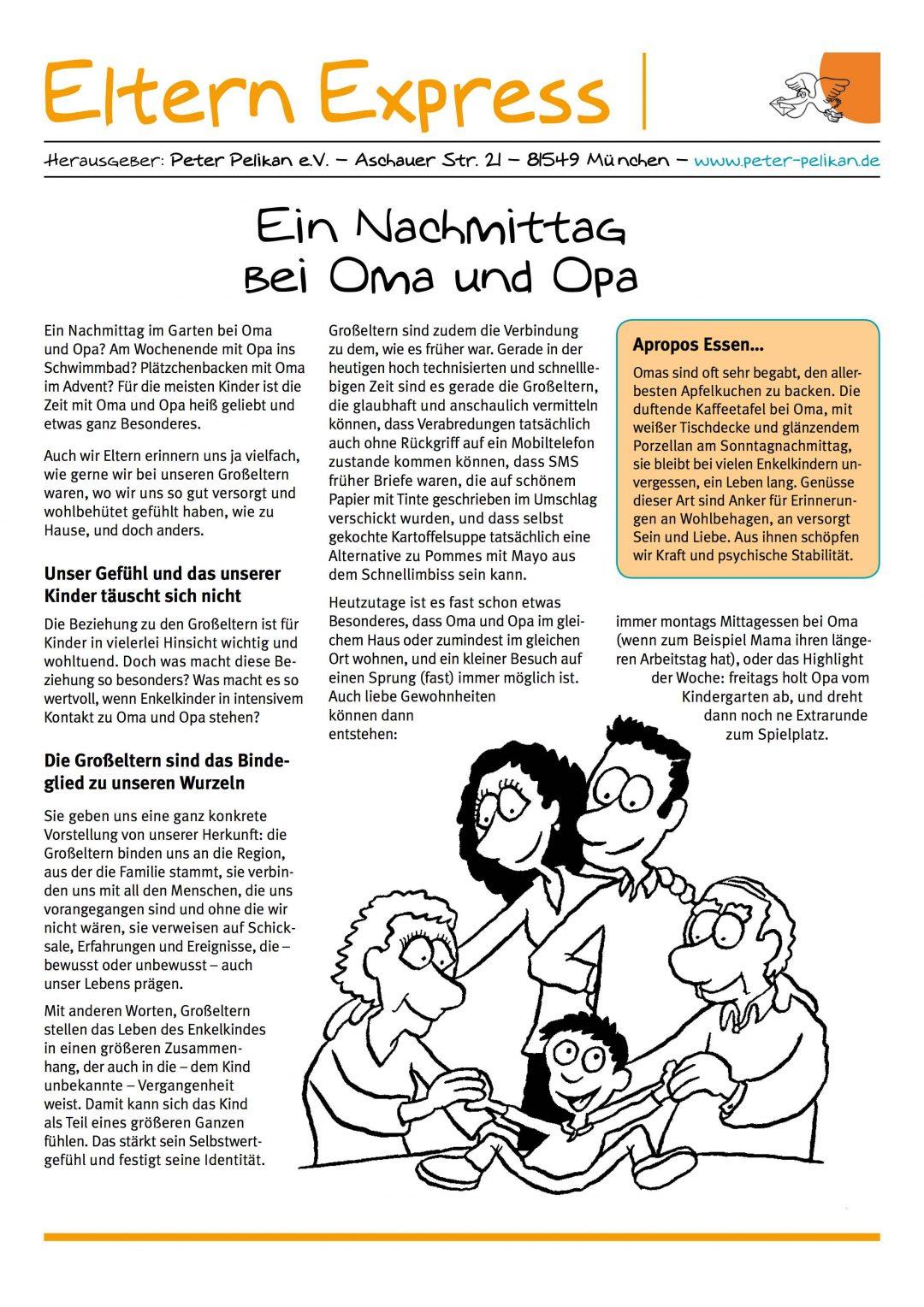 """Express-Brief No. 7 """"Ein Nachmittag bei Oma und Opa"""""""