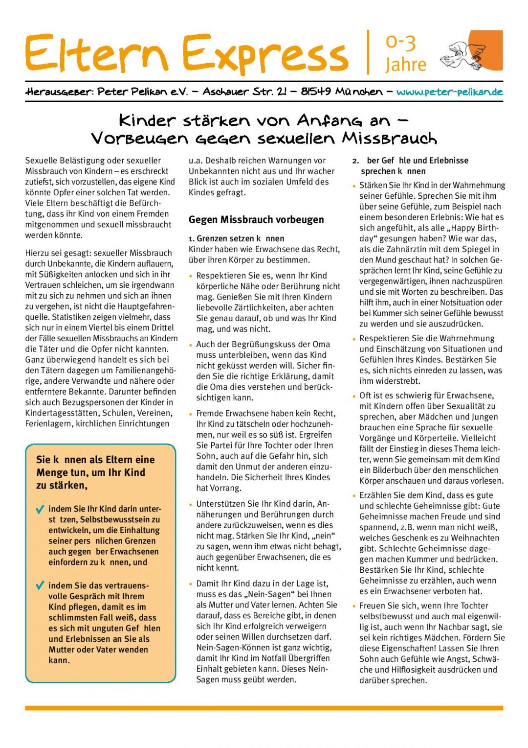 Express-Brief No. 8 Kinder stärken von Anfang an