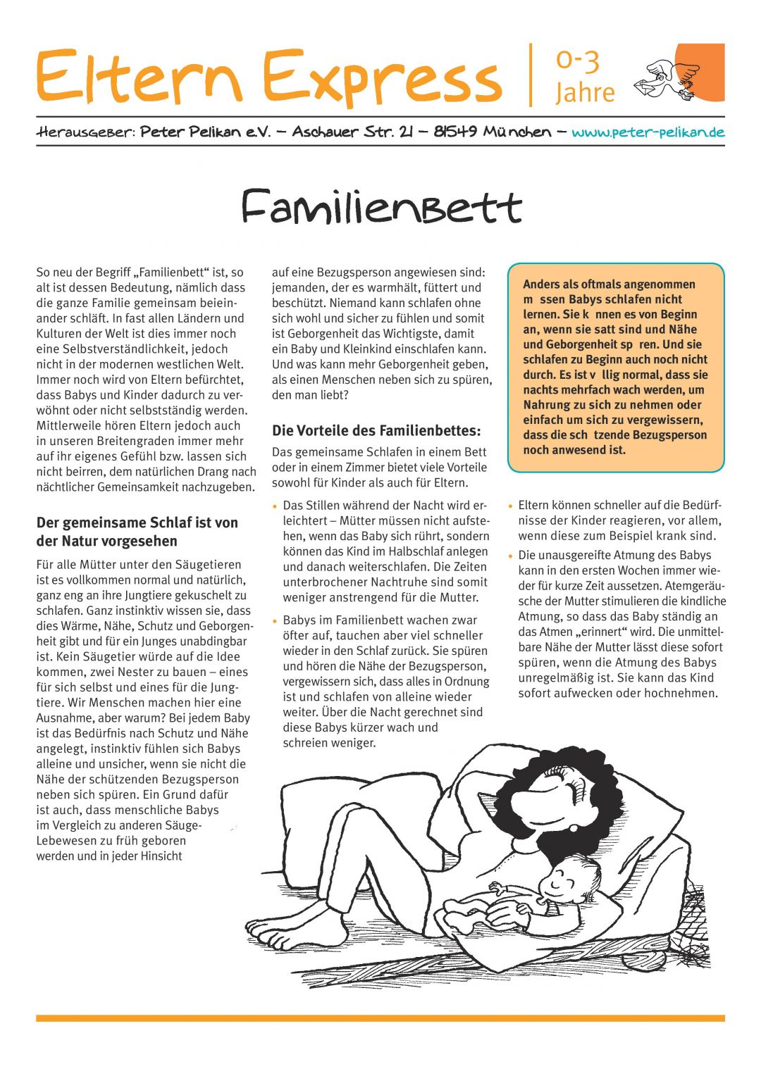 "Express-Brief No. 9 ""Familienbett"""